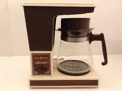 Vintage General Electric Coffeematic Automatic Drip Coffee Maker 10 Cup