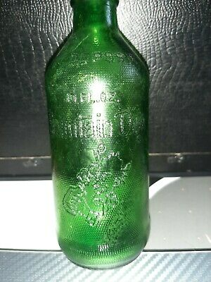 "Antique Rare Green Embossed Mountain Dew Bottle ""It'll Tickle Your Innards"""
