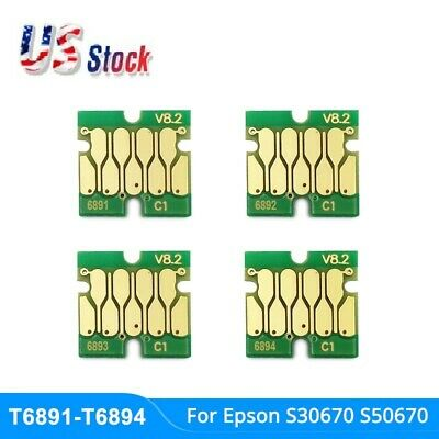 4pcs/lot New Stable Cartridge chip for Epso n SureColor S30670 one time chip