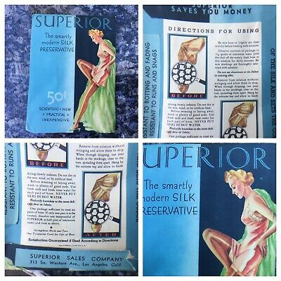 Vintage 1920  Superior Silk Stockings / Lingerie Preservative Cleaner UNOPENED