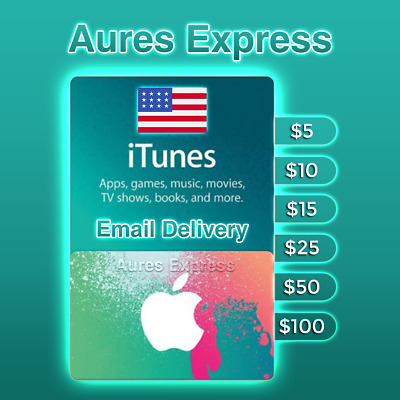 Apple iTunes Gift Card USA United States $5 $10 $15 $25 $50 $100 ✅Fast Delivery✅