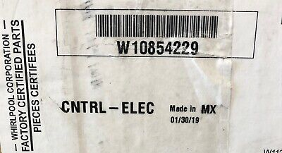OEM New W10854229 Electronic Control Board Whirlpool Dishwasher Never Used