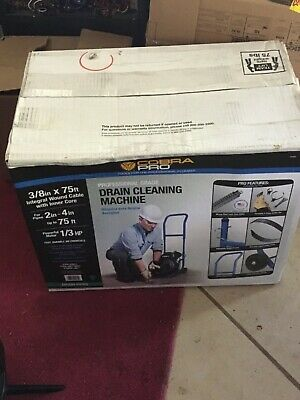 """Cobra Pro CP3020 3/8"""" x 75ft Drain Cleaning Machine for 2"""" - 4"""" Pipes - SEALED"""