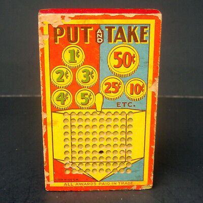 Vintage Hamilton Midget 100 Punchboard Punch Board Put and Take Made USA