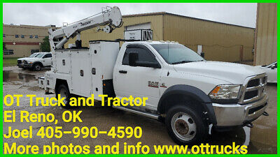2014 Dodge 5500 4wd 7000lb Crane 11ft Maintainer Service Bed PTO Air 6.7L Diesel