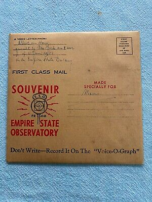 Vintage Voice-O-Graph Souvenir Recording at Empire State Building Observatory