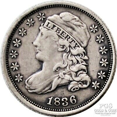 1836 Capped Bust Dime 10c JR-2 R-2 US Silver Coin 18975
