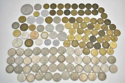 127 Unsearched Vintage Foreign World Coin Collector Estate Coins World Coin Lot