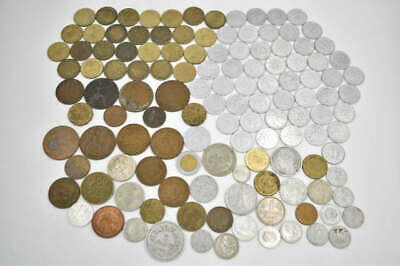119 Unsearched Vintage Foreign World Coin Collector Estate Coin Lot Large Cent +