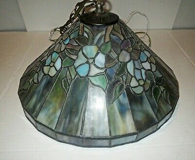 Antique Tiffany  LEADED STAINED GLASS - CEILING LIGHT Lamp Handel  Style