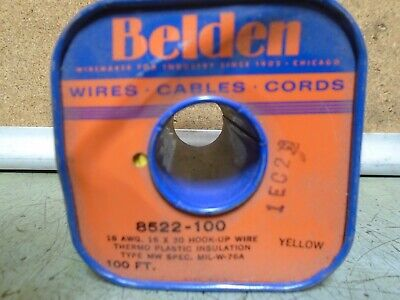 BELDEN 8522-100 18 AWG Hook-Up Wire , Yellow