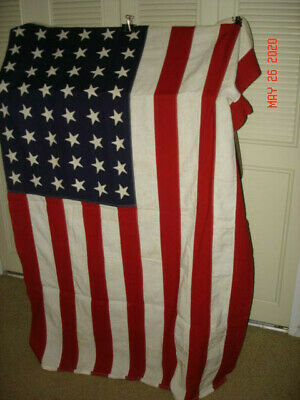 Vintage 48 Star American Flag  STORM KING 4' x 6' Stitched Stars & Strips