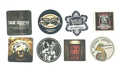 8 Different Craft Beer Coasters