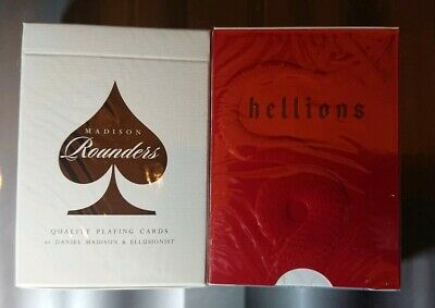 BLACK ROUNDERS & v2 HELLIONS (2x) Decks Of Playing Cards Ellusionist Sealed