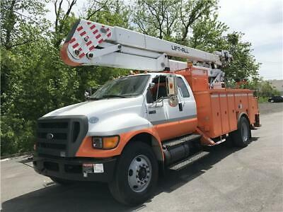 2009 Ford F-750 Lft-All Bucket Truck 55ft Only 62K CUMMINS No Reserve