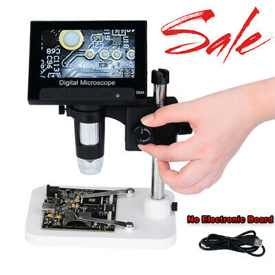 """1000x 4.3"""" HD LCD Monitor Electronic Digital Video Microscope LED Magnifier"""
