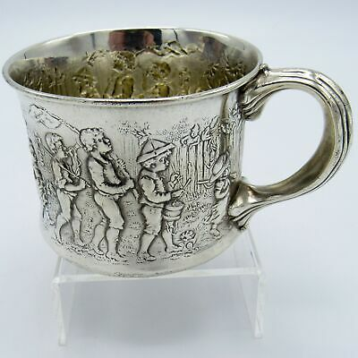 Antique Gorham Kids Marching Band, Baby Children's Cup, Sterling, NR