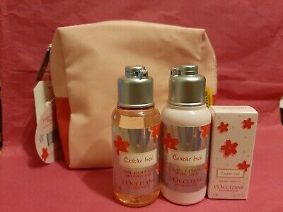 L'occitane Limited Edition Florals Cherry Blossom Collection travel size