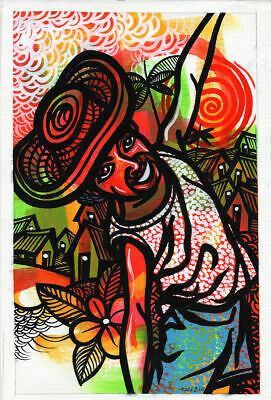 CUBAN LIFE Original Art Painting Acrylic Canvas LEONARDO RUBIO BRIDON  2