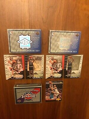1992-93 Upper Deck MVP Hologram SET X2! + Bonus Michael Jordan MJ Shaq RC Rookie