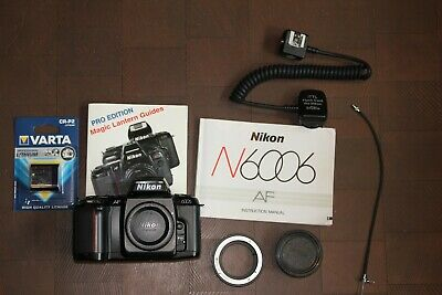 Nikon N6006 35mm Film Camera with accessories