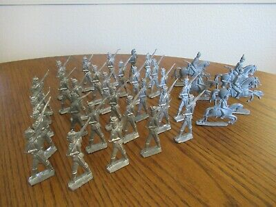 34 Lot Pewter Soldier Figurines
