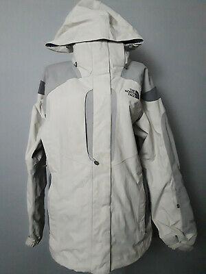 The North Face White Hooded Hyvent Waterproof Nylon Jacket Womens M