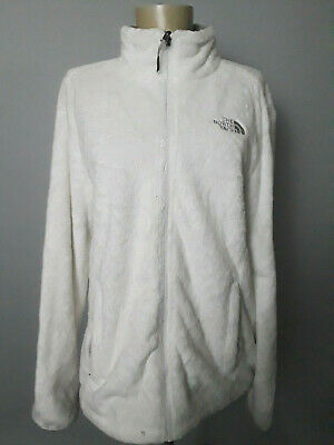 The North Face White Soft Osito Fleece Jacket Womens L