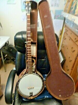 1963 Gibson RB175 Pete Seeger Style Long Neck 5 String Openback Banjo w/Case