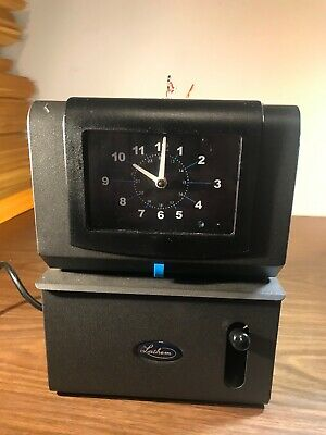 LATHEM MECHANICAL TIME CLOCK Model 2121 115V w/ 2 Keys