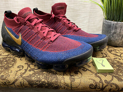 Nike Air Vapormax Flyknit 2 Olympic 942842-604 Team Red/Obsidian-Black Size 15