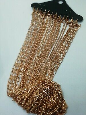 Gold Plated Chain Necklace Job Lot Bundle Clearance