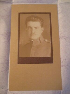 Frantisek Drtikol - Man soldier - Original silver gelatin photo-stamped-1916