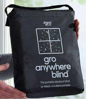 Grobag Gro Anywhere Portable Adjustable Blackout Blind suction cups - Stars Moon