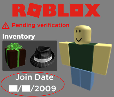 Unverified 2009 Roblox Account /W Perfectly Legitimate Business Hat (4K Value)