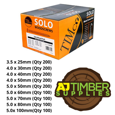 Solo Woodscrew Timco - Trade Price Multipack Mix pack of Quality wood Screws
