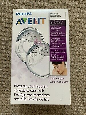 Philips Avent Breast Shells For Breast feeding. Nipple Protectors Baby Brand New