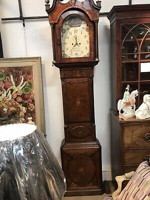 antique longcase grandfather clock pre-1900