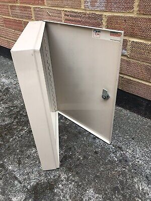 Lockable Metal Key Cabinet (Dimensions are H39cm x W30cm x D6cm)