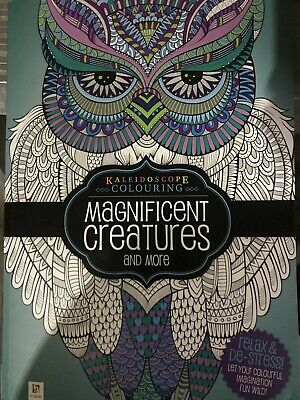 Kaleidoscope adult colouring: Magnificent Creatures