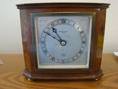 Vintage Wood Case Carriage Clock by Elliott for Bowden & Son Ltd Plymouth.