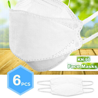 6 Piece - KN95 Disposable Face Mask Protective Covers Mouth & Nose FAST Shipping