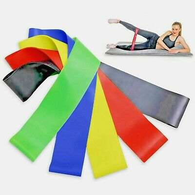 Resistance Bands Set Exercise Sports Loop Fitness Home Gym Yoga Latex Or Singles