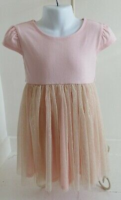 Girls age 4 years dress,light pink,glitter by SWEET HEART ROSE hardly worn!
