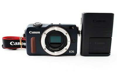 [Exc]Canon EOS M2 18.0 MP Digital Camera Blue Body w/Charger from Japan 538983