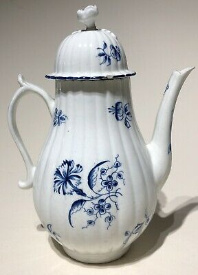 Worcester c1775 Small Coffee Pot Gillyflower Pattern