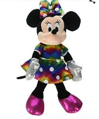 Disney Rainbow Minnie Mouse Official TY Beanie Babie's Collection With Tags Toy