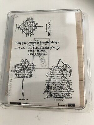stampin up faith in nature wood stamp set - brand new 5 stamps