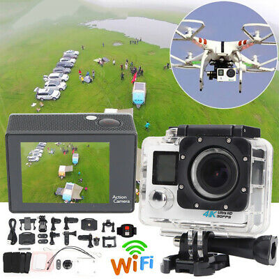 WiFi 4K 16MP 2.0'' LCD Dual-Screen Sport Action Camera Remote Control Protable
