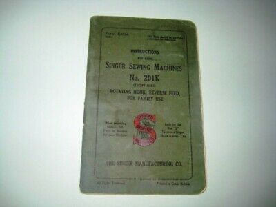Vintage Singer Sewing-Singer 201K Manual